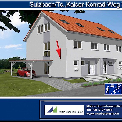 SULZBACH/Ts., Top-moderne DHH in ruhiger TOPLAGE !